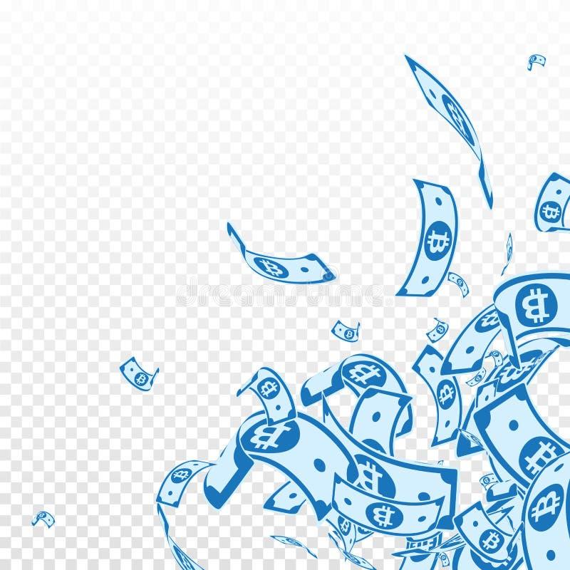 Bitcoin, Internet-Banknotefallen Unordentliches BT vektor abbildung