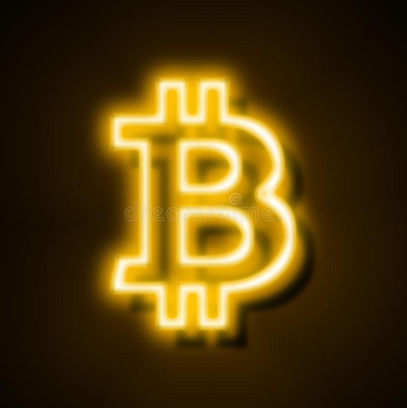 Free Bitcoin Internet Currency Digital Neon Golden Bitcoin Internet Currency Global Cryptocurrency Icon Bitcoin Royalty Free Stock Photos - 105339838