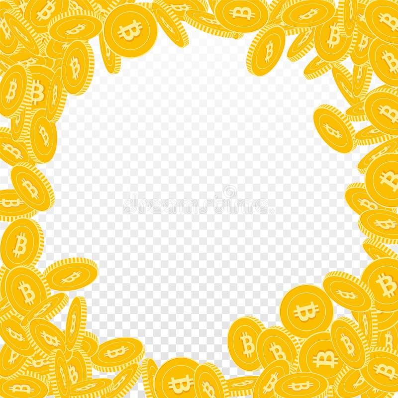 Bitcoin, Internet-W?hrungsm?nzenfallen Scattere lizenzfreie abbildung