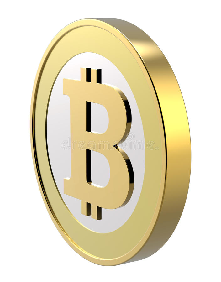 bitcoin isolerad white vektor illustrationer