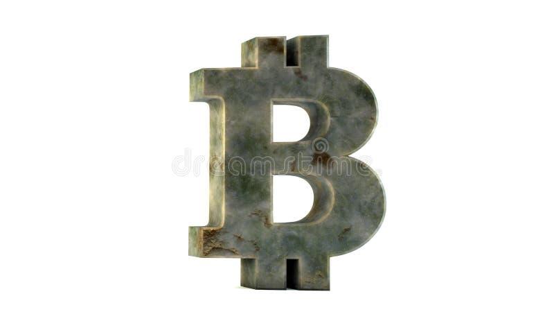 Bitcoin isolerade på vit bakgrund stock illustrationer