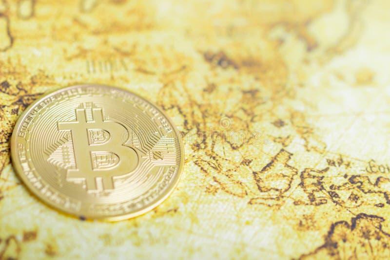 Bitcoin kan worden gebruikt om transacties tussen om het even welke rekening te leiden royalty-vrije stock fotografie