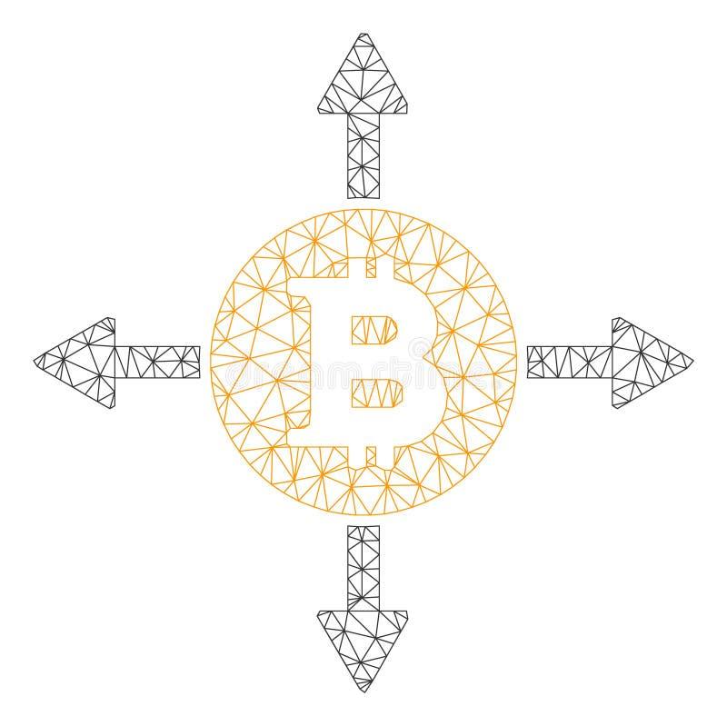 Bitcoin kierunk?w wektoru siatki ?cierwa model ilustracji
