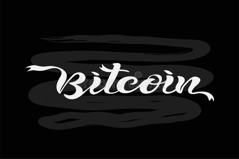 Bitcoin-Kreidebrett vektor abbildung