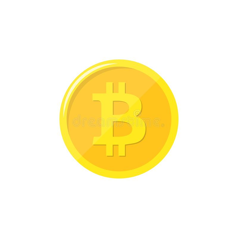 Bitcoin Läkarundersökningbitmynt Digital valuta Cryptocurrency Guld- mynt med bitcoinsymbol som isoleras på vit bakgrund materiel vektor illustrationer