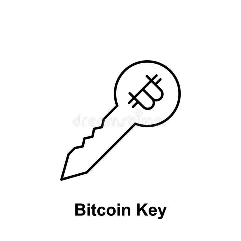 Bitcoin lock outline icon. Element of bitcoin illustration icons. Signs and symbols can be used for web, logo, mobile app, UI, UX stock illustration