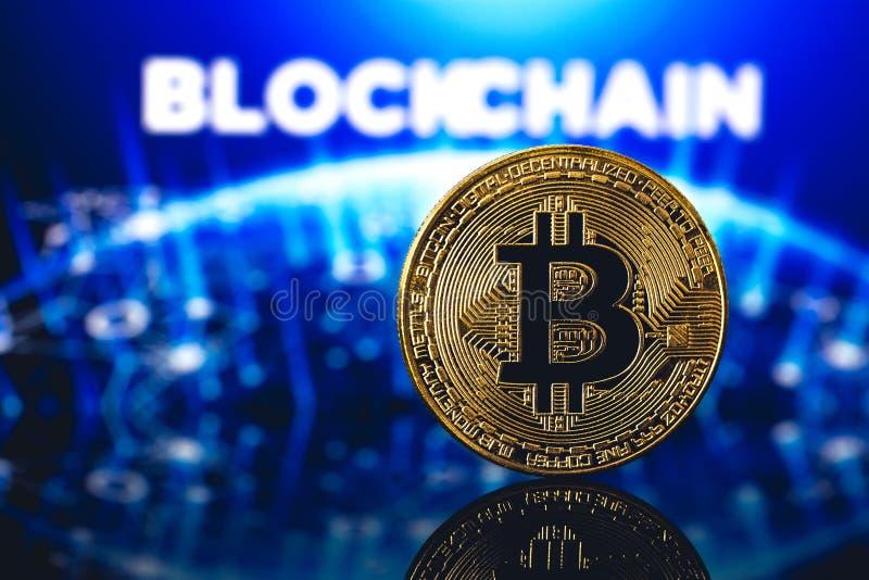 Bitcoin logo royaltyfri fotografi