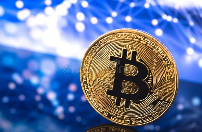 Bitcoin logo royaltyfri bild
