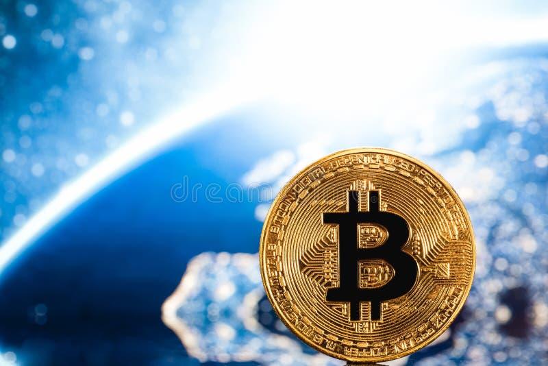 Bitcoin logo arkivbilder