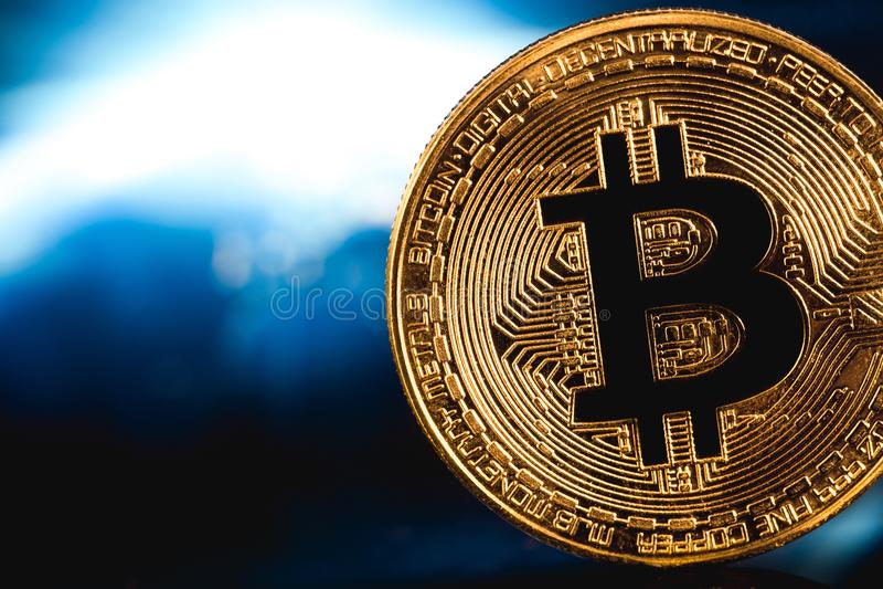 Bitcoin logo royalty free stock photo