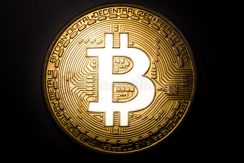 Bitcoin logo stock photography