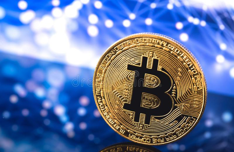 Bitcoin logo royalty free stock image