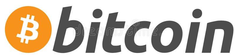 Bitcoin, logotipo, moeda, moeda cripto, bitcoin é usado aqui, pagamentos do não-dinheiro ilustração royalty free