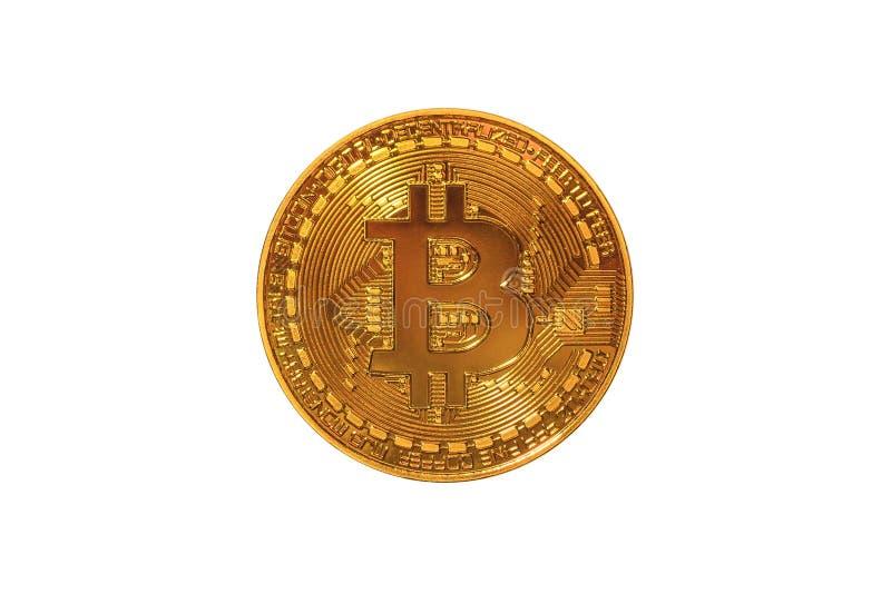 Bitcoin-Münze lokalisiert lizenzfreies stockbild