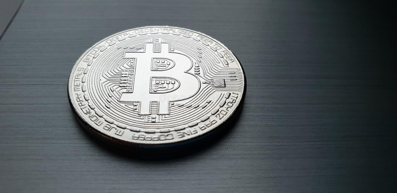 Bitcoin-Münze stockfotografie