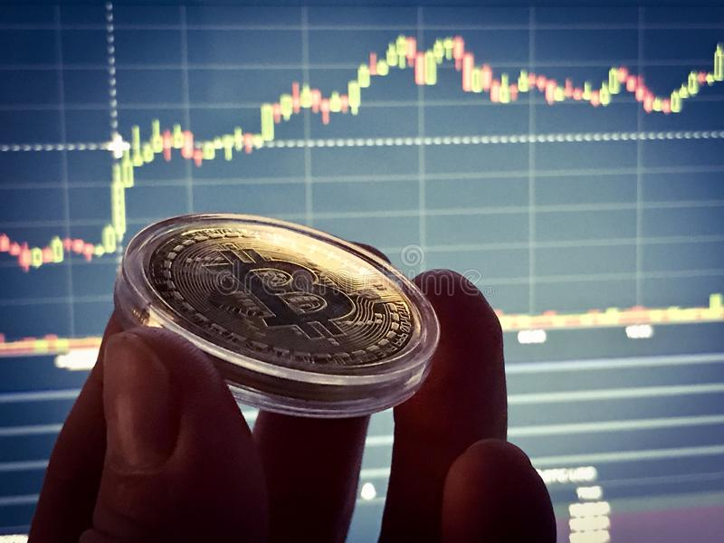 Bitcoin-Manie stockbild