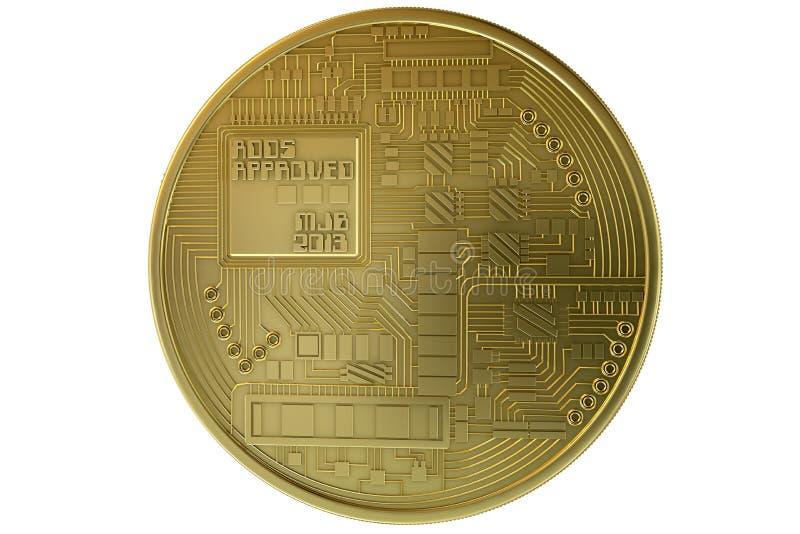Bitcoin menniczego złota crypto waluta obrazy stock