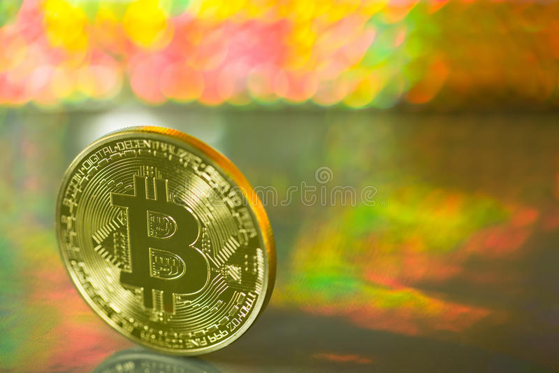 Bitcoin metall royaltyfri foto