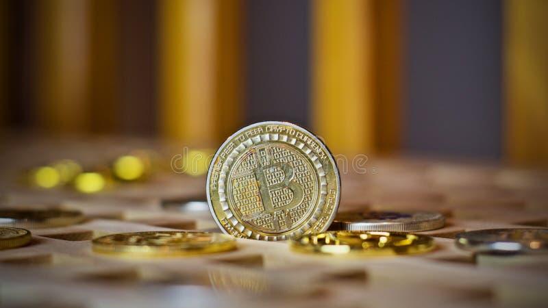 Bitcoin metalu moneta zdjęcie royalty free