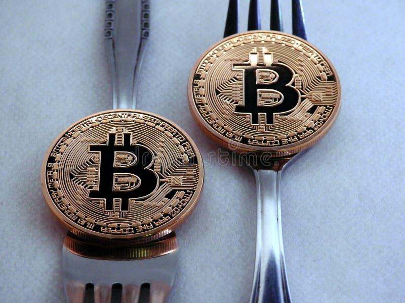 Bitcoin miękkiej części rozwidlenie zdjęcie royalty free