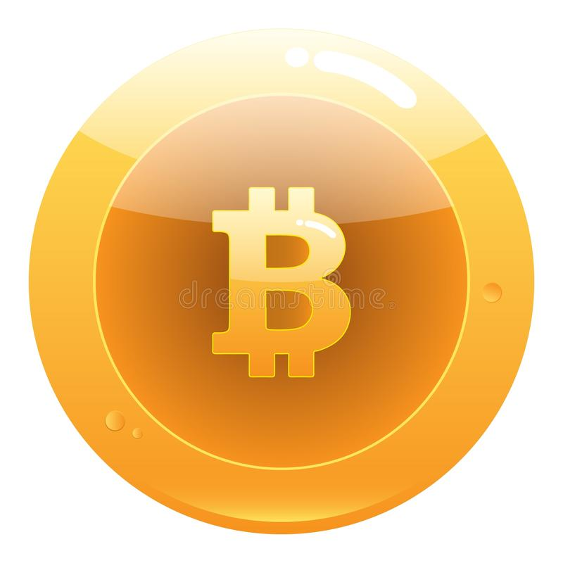 Bitcoin mieszkania ikona Crypto waluta kawa?ka moneta ilustracji