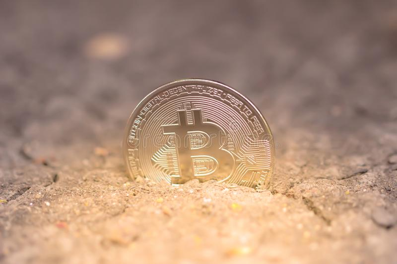Bitcoin mining. virtual cryptocurrency mining concept. Money laundering bitcoin. royalty free stock photo