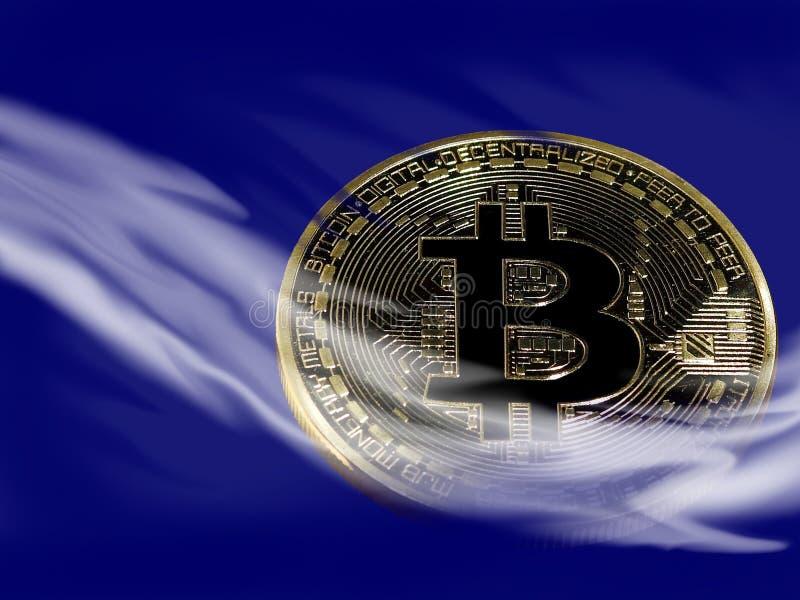 Bitcoin misterioso foto de archivo libre de regalías