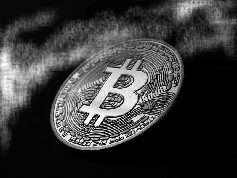 Bitcoin misterioso fotografía de archivo
