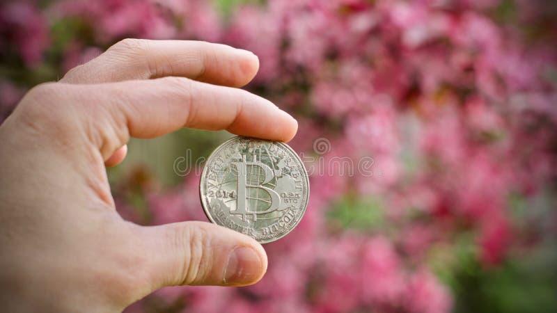 Bitcoin - moneda digital fotos de archivo libres de regalías