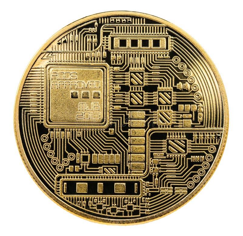 Bitcoin Moneda física del pedazo Moneda de Digitaces Cryptocurrency Vaya imagen de archivo
