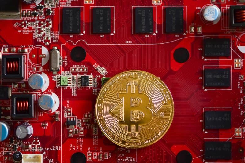 Bitcoin, moneda virtual, currencyÑŽ digital descentralizado imagenes de archivo