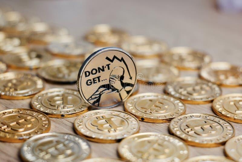 Bitcoin monety cryptocurrency obraz royalty free