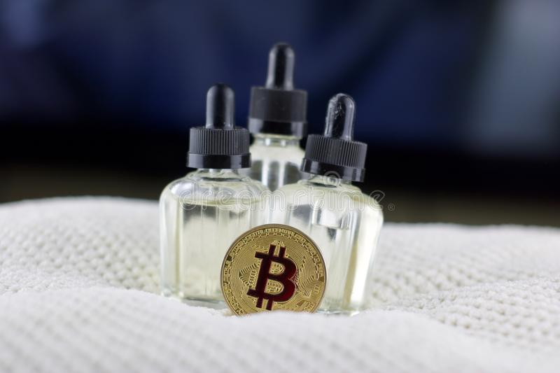 Bitcoin monety serum obraz royalty free