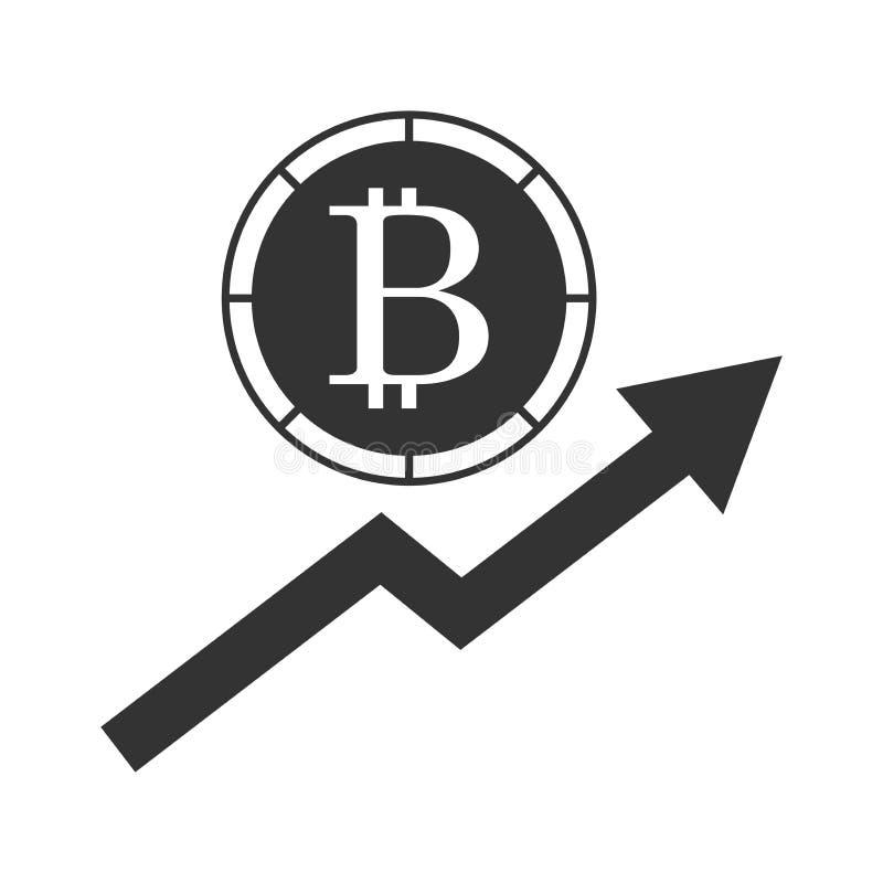 Bitcoin monte l'icône illustration libre de droits