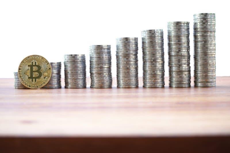 Bitcoin multiplica o conceito de troca fotos de stock royalty free