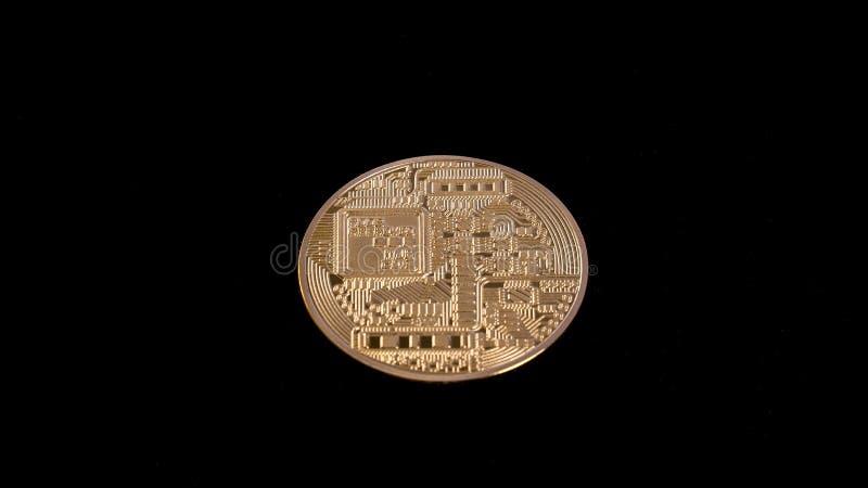 Download Bitcoin na czarnym tle obraz stock. Obraz złożonej z tło - 106909945