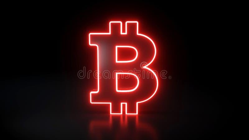 bitcoin neon sign)