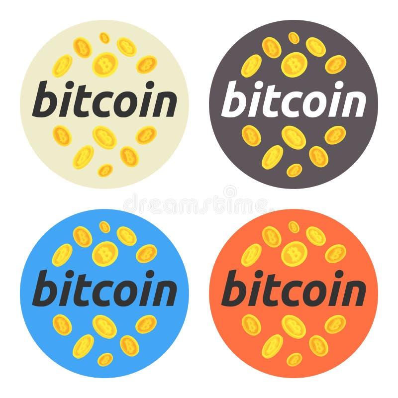 Bitcoin om illustratiereeks Bitcoin, effectenbeurs en zaken, het investeren, die geld, winst, cryptocurrency maken Voor Web desig stock fotografie