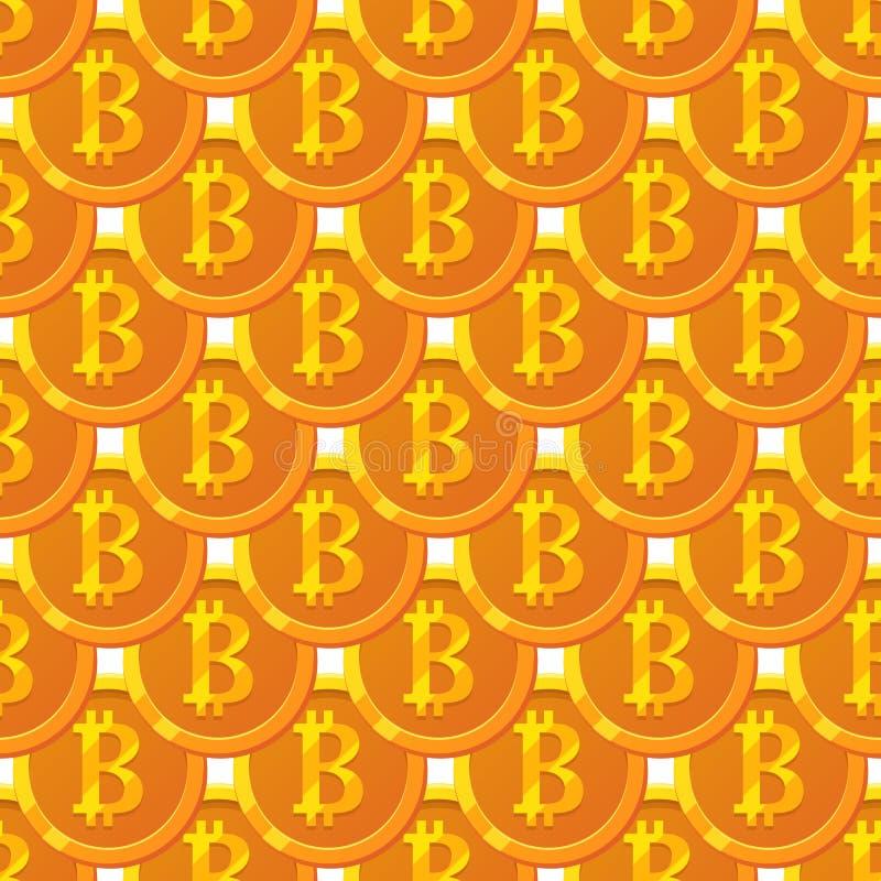 Bitcoin paattern illustrazione di stock
