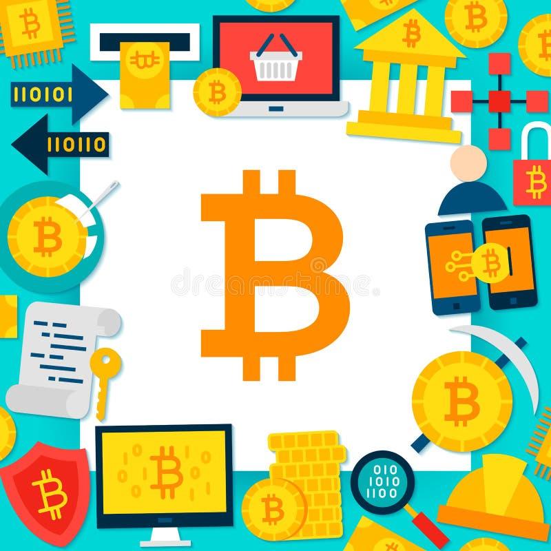 Bitcoin papieru szablon ilustracja wektor