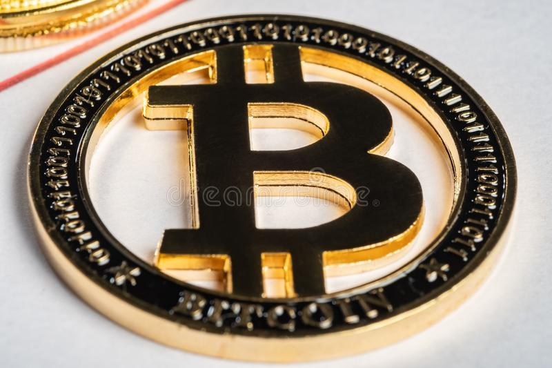 Bitcoin peer-to-peer payment system that uses the same unit to account for transactions royalty free stock photography