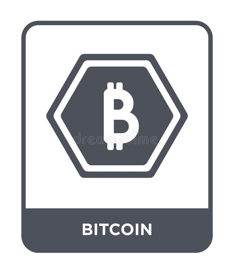 bitcoin pictogram in in ontwerpstijl Bitcoinpictogram op Witte Achtergrond wordt geïsoleerd die bitcoin vectorpictogram eenvoudig royalty-vrije illustratie