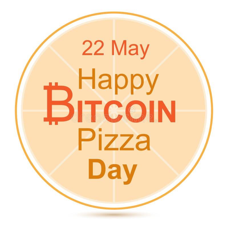 Bitcoin pizzadag royaltyfri illustrationer