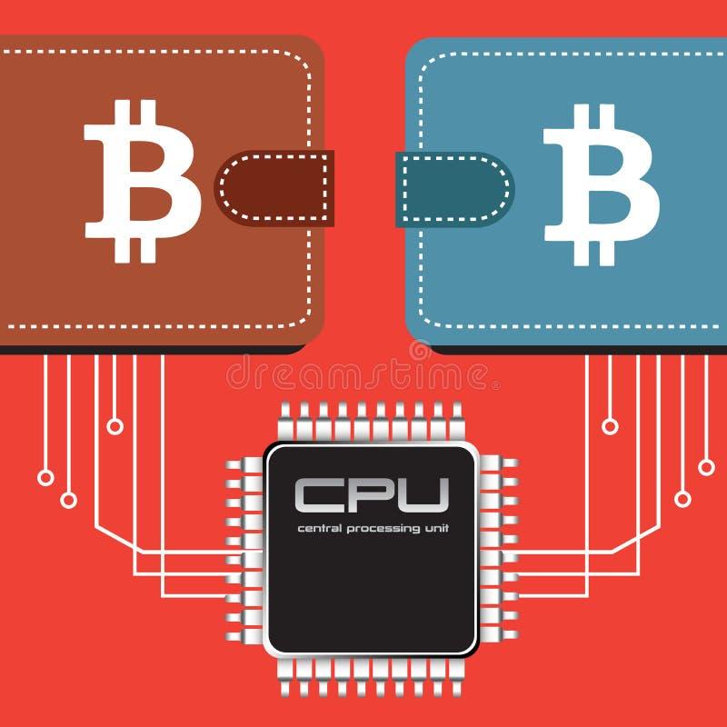 Bitcoin plånböcker royaltyfri illustrationer