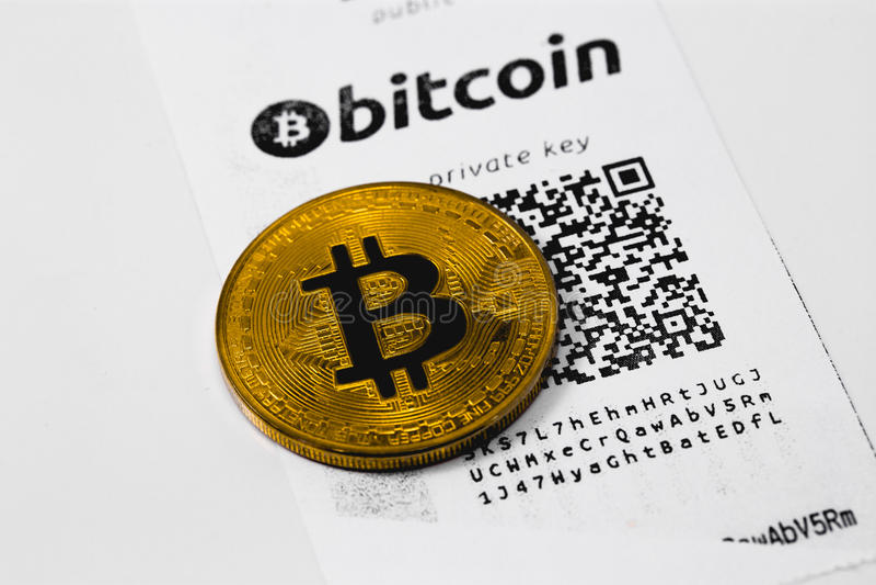Bitcoin plånbok arkivbild