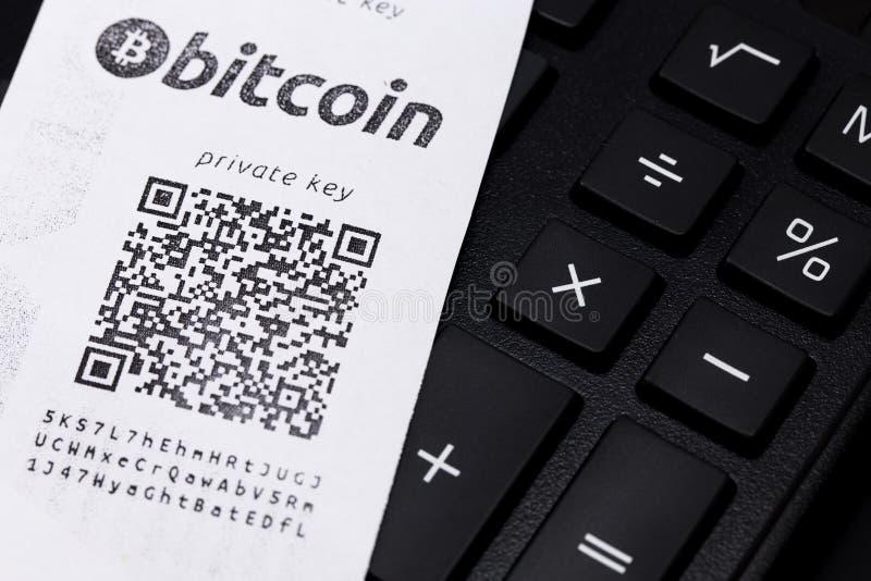 Bitcoin plånbok arkivbilder