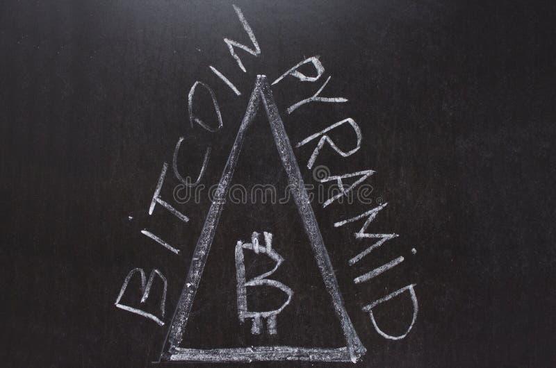 Bitcoin pyramid royaltyfri fotografi
