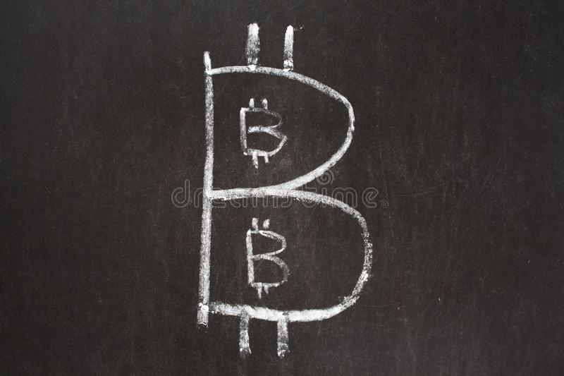 Bitcoin pyramid royaltyfria bilder