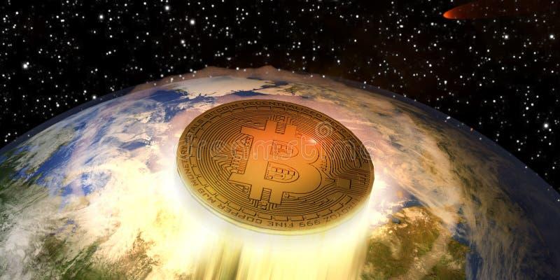 Bitcoin que sopra fora imagens de stock royalty free