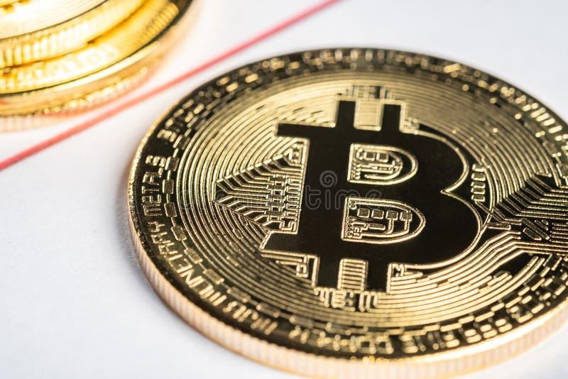 Bitcoin równy sobie system płatności który używa ten sam jednostkę uzasadniać transakcje obrazy royalty free